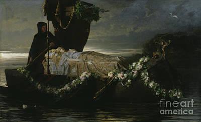 Lore Painting - Elaine by Tobias Edward Rosenthal