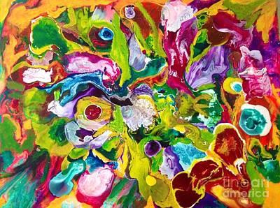 Justine Painting - Elaine's Big Salad by Elle Justine