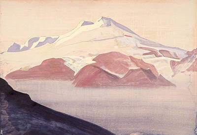 Snowfall Painting - Elbrus, Caucasus by Nicholas Roerich