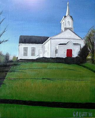 Candy Painting - Eldred Congregational Church by Candy Bott