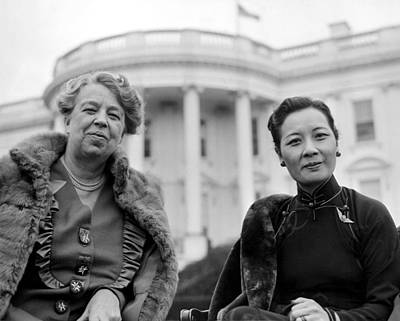 Eleanor Roosevelt And Madame Chiang Print by Everett