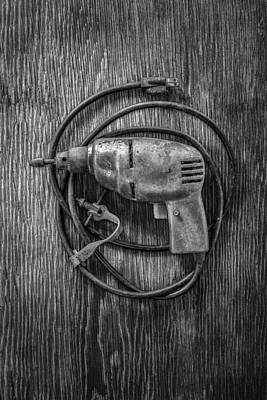 Tooled Photograph - Electric Drill Motor by YoPedro