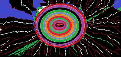 Bipolar Digital Art - Electric Hole by Sam Persons
