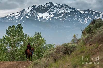 Horse Photograph - Electric Peak Cowboy by Wildlife Fine Art