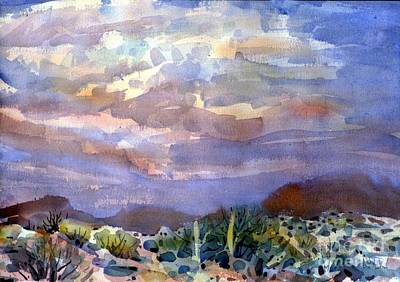 Sonoran Desert Painting - Electric Sunset by Donald Maier