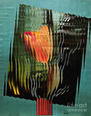 Tulips Mixed Media - Electric Tulip 2 by Sarah Loft