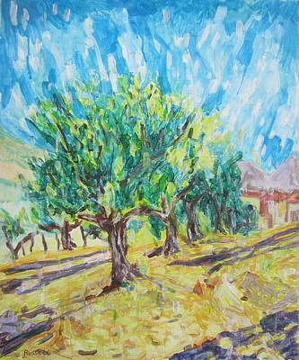Impressionism Painting - Electron Tree by Russell Bradley