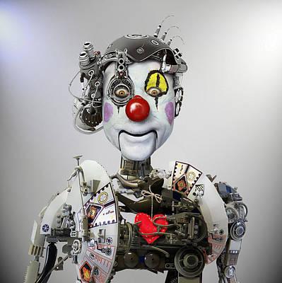 Clown Photograph - Electronic Clown by Ddiarte