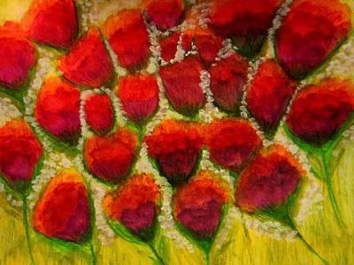 Flowers Painting -   Elegant Flowers  by Stephanie Zelaya