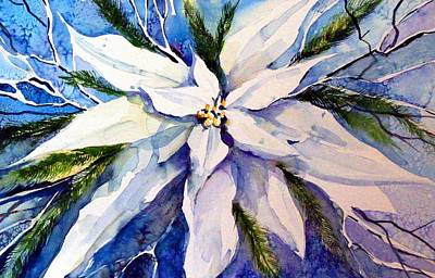 Blessings Drawing - Elegant White Christmas by Mindy Newman