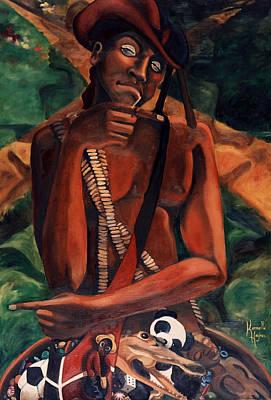 Yoruba Painting - Elegba At The Crossroads by Karmella Haynes
