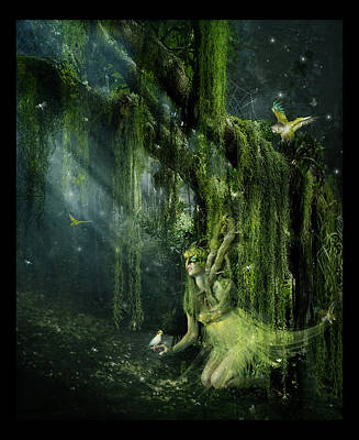 Moss Digital Art - Elemental Earth by Mary Hood