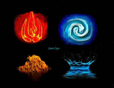 Solid Digital Art - Elements - Da by Leonardo Digenio