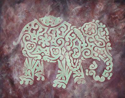 Maze Painting - Elephant - Animal Series by Jennifer Kelly