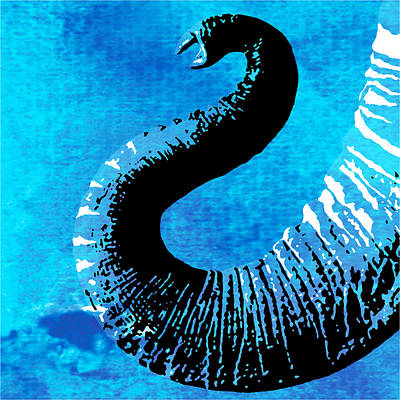 Animal Painting - Elephant Animal Decorative Wall Poster  1 by Diana Van