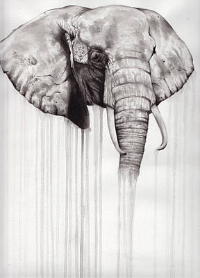Drips Painting - Elephant by Ashley Brown