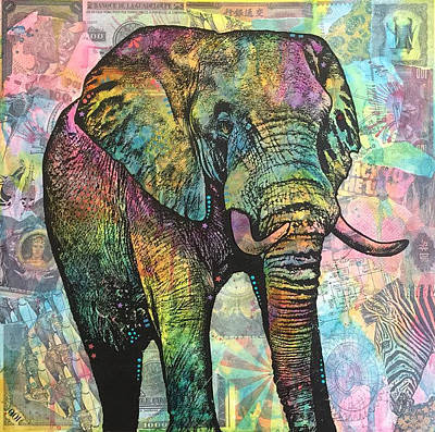 Painting - Elephant Back To The Land by Dean Russo