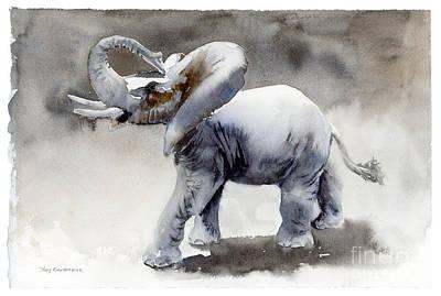 Nature Study Painting - Elephant Light Study  by Amy Kirkpatrick