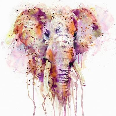 Elephant  Print by Marian Voicu