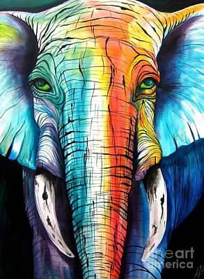 Elephant Rainbow Print by Abbi Cord