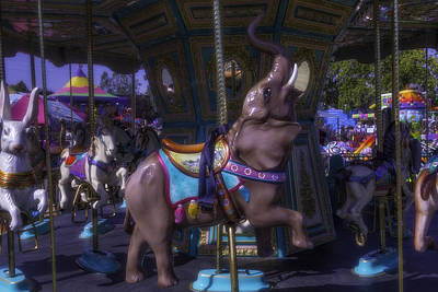 Rabbit Photograph - Elephant Ride At The Fair by Garry Gay