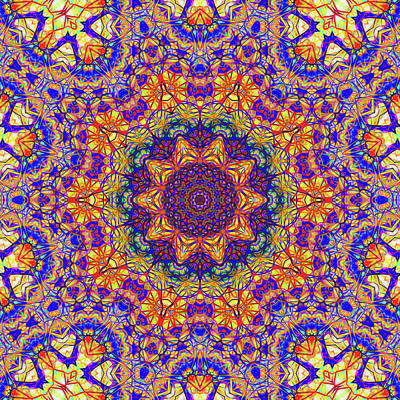 Eleventh Mandala Of Life For A Rosy Spring Print by John Groves