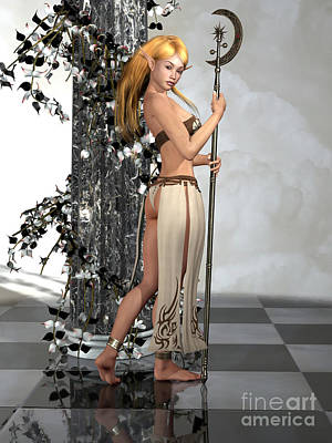 Goblin Digital Art - Elf Princess by Alexander Butler