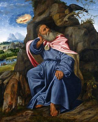 Giovanni Gerolamo Savoldo Painting - Elijah Fed By The Raven by Giovanni Gerolamo Savoldo