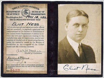 Liquor Mixed Media - Eliot Ness - Untouchable Chicago Prohibition Agent by Daniel Hagerman