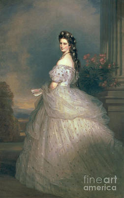 Germany Painting - Elizabeth Of Bavaria by Franz Xavier Winterhalter