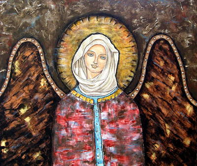 Christian Art . Devotional Art Painting - Elizaveta by Rain Ririn