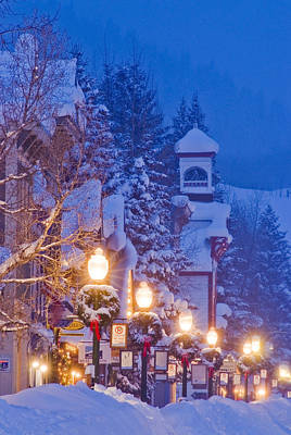 Colorado Christmas Photograph - Elk Avenue Wreaths by Dusty Demerson