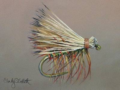Fly Fishing Painting - Elk Hair Caddis by Cindy Gillett