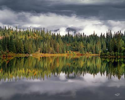 Elk Lake Print by Leland D Howard