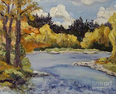 Elk River Fall Steamboat Springs Colorado Print by Zanobia Shalks
