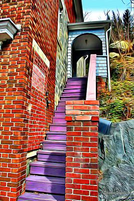Ellicott City Steps Print by Stephen Younts
