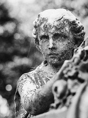 Elmwood Cemetery - Cassie Hill Bw Print by Jon Woodhams
