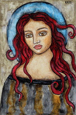 Christian Art . Devotional Art Painting - Eloise by Rain Ririn