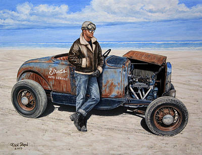 Hot Rod Painting - Elrod by Ruben Duran