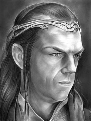 Tolkien Drawing - Elrond by Greg Joens