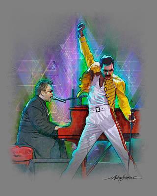 Elton And Freddie Original by Michael Shifflett