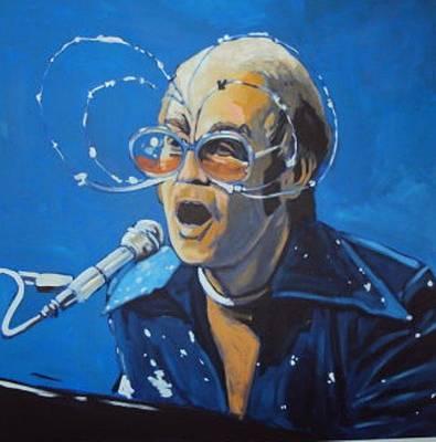 Elton John Painting - Elton John by Kingston