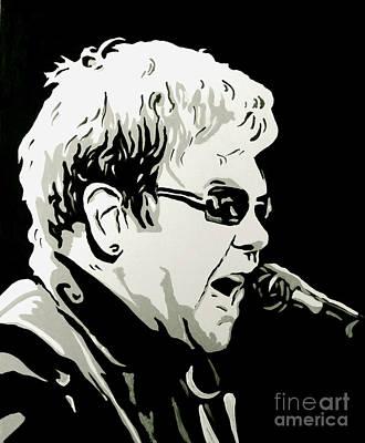 Elton John Painting - Elton John by Sam Sakharia