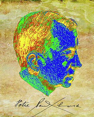 Digital Digital Art - Eluard by Asok Mukhopadhyay
