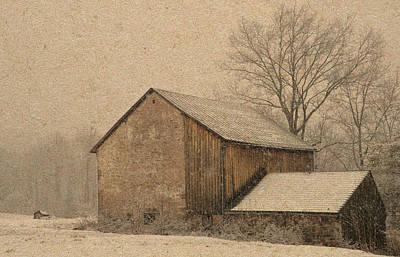 Mixed Media - Elverson Barn by Trish Tritz