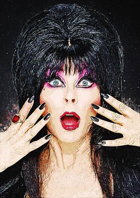 Elvira - Mistress Of The Dark Print by Taylan Apukovska