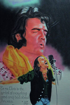 Bono Painting - Elvis And Jon by Thomas J Herring