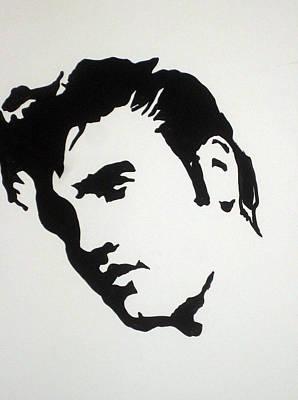 Elvis Presley Drawing Drawing - Elvis Before Time by Robert Margetts