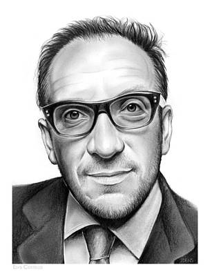 Greg Drawing - Elvis Costello by Greg Joens