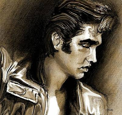 Nashville Drawing - Elvis By Special Request by Carole Jacobs